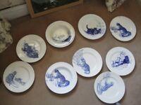 SET OF 9 VINTAGE DINNER PLATES