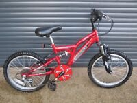 CHILDS AMMACO SUSPENSION BIKE IN IMACULATE LITTLE USED CONDITION.. (SUIT APPROX. AGE. 5 / 6+)..