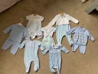 Baby Boy Clothes Bundle (tiny baby to 3months)