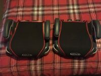 2 Matching Black & Red Graco Car Booster Seats with Cup Holders