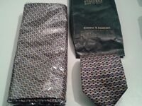 Genuine St George Milano Italian silk tie and scarf set. Unused