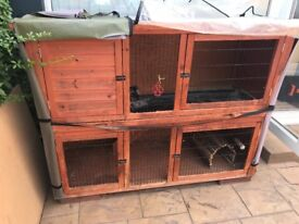 5ft Rose Cottage Rabbit Hutch