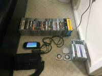 PSP + games + movies + charger + carry case