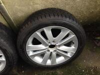 BMW 1 Series alloys with winter tyres
