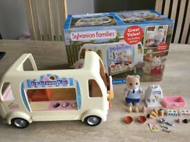 Sylvanian families Ice Cream Van and Accessories