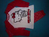 Girls Hello Kitty Pyjamas Age 5-6 Years IP1