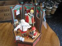 enesco music box santas tailor