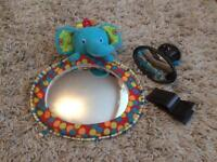 Baby car mirror and mirror toy