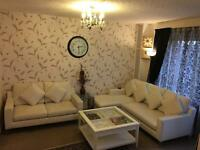 Sofa set and matching table for sale