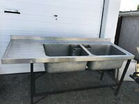 Industrial double catering sinks