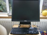 "DELL 17"" LCD MONITOR model 1707FPt PLUS KEYBOARD"