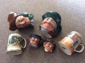 Toby Jugs Royal, Doulton Royal,Bradwell mug. Joblot