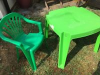 Child's tabled and chair