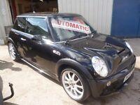 Mini Cooper S Auto,full John Cooper Works Kit,3 dr hatchback,FSH,full MOT,leather interior,F1 gears