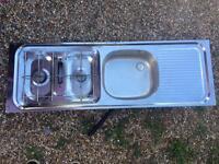 Suter Twin Hob, Grill, Sink / Drainer. Camper Conversion, Caravan, Motorhome