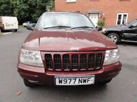 2000 Jeep Grand Cherokee Limited 4.0 Auto, New MOT, 133000 miles