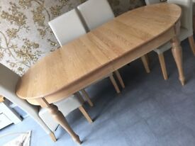 Solid oak extendable dining table, from Red Brick Mill