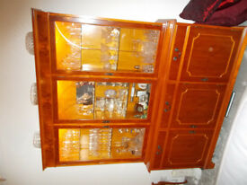 Yew Display Cabinet and sideboard