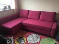 Ikea Friheten sofa bed - Cherise colour