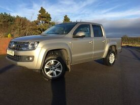 VOLKSWAGEN AMAROK 178bhp TDI TRENDLINE 4 MOTION DOUBLE CAB, 1 CO OWNER, FSH, IN SAND BEIGE METALLIC