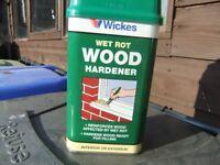 Wickes Wet Rot Wood Hardener 500ml brand new, unopened