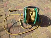 Hoselock hose with reel