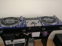 DJ set-up for sale: 2x Stanton ST.150 Turntables + Vestax PMC-05 Pro SL Professional Mixer