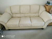 Three seats leather sofa
