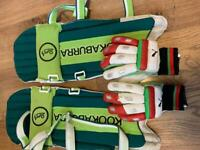 Childs cricket pads and gloves