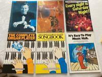 6 x assorted music books