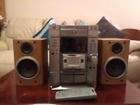 Sony 3 DVD Changer / Mini HI-FI Component System MHC-DP1000D Inc Sony Speakers and Remote Control