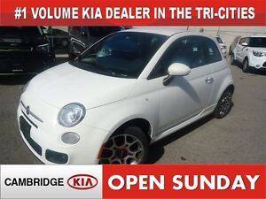 2015 Fiat 500 Sport / LEATHER/CLOTH / *AUTO*
