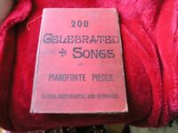 Vintage Song Book 200 Celebrated songs And pianoforte Pieces