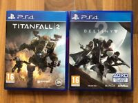 Destiny 2 & titanfall 2 , Ps4 , brand new ! Price stands , no offers !