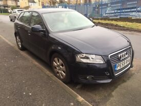 2009 AUDI A3 SE TDI 5 DOOR HATCHBACK *KEYS LOST AND ONLY HAVE A SPARE BLACDE KEY SO DOES NOT START*