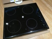 Zanussi Glass Ceramic Electric Hob, Built in, ZVM64N. Clean & Boxed! Made in Germany