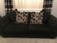 Sofa and swivel cuddle chair