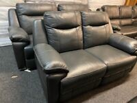 NEW - EX DISPLAY LAZYBOY WANSTEAD GREY 3 + 2 SEATER ELECTRIC SOFA SOFAS / 75% Off RRP