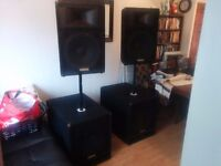 YAMAHA SW11IV SUB WOOFERS AND S115IV SPEAKERS (PA SPEAKERS)