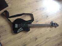 BASS GUITAR - Squier Jaguar Black