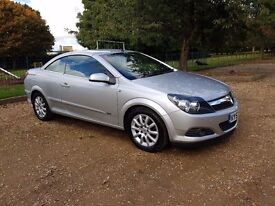 VAUXHALL ASTRA CONVERTIBLE T-TOP SPORT CDTI SILVER 2007 FULL SERVICE