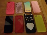 IPhone 5C, 8GB Pink, Unlocked, Excellent condition with extras