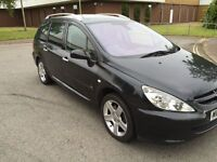 2004 54 Peugeot 307hdi estate half Leather Pan roof ,Air Con 12 months mot 3 months Warranty