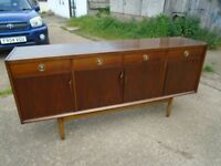 Lovely Retro Teak Sideboard Danish / G-Plan Style Fully Restored Delivery Can Be Arranged
