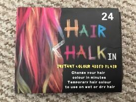 Hair chalk - 24 different colours