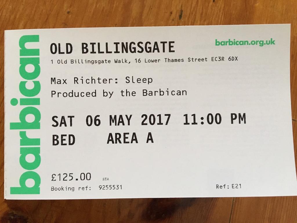 Max Richter Sleep 8 Hour Overnight Recital London