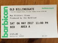 Max Richter - Sleep 8 hour overnight recital - London - Premium bed!! Old Billingsgate Market