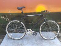 Claud Butler Courier Single Speed Large Bike Fixie Flip Flop Free-Wheel