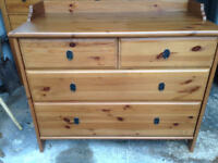Solid Pine Chest with 4 Drawers