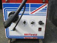 Britweld Mig Welder with Full Gas Bottle etc
